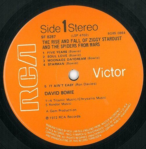 David Bowie Ziggy Stardust Vinyl Lp Planet Earth Records